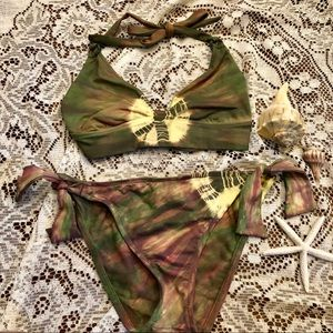 🍀 Lucky Brand tie dye bikini